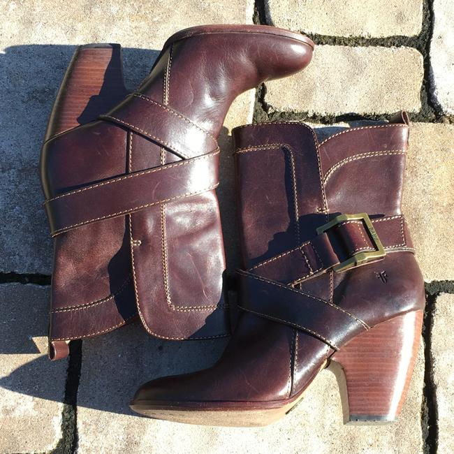 Frye Brown Andrea Mid Boots/Booties Size US 7.5 Regular (M, B) Frye Brown Andrea Mid Boots/Booties Size US 7.5 Regular (M, B) Image 3
