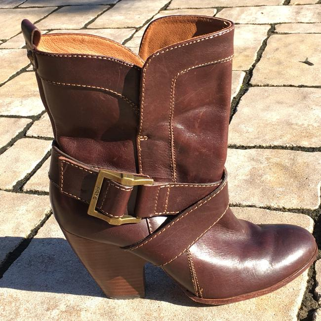 Frye Brown Andrea Mid Boots/Booties Size US 7.5 Regular (M, B) Frye Brown Andrea Mid Boots/Booties Size US 7.5 Regular (M, B) Image 8