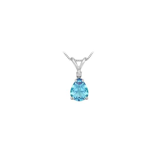 Preload https://img-static.tradesy.com/item/22406198/blue-silver-december-birthstone-topaz-teardrop-pendant-with-cubic-zirconia-necklace-0-0-540-540.jpg