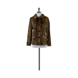 Isda & Co. Leopard Print Brown & Black Jacket