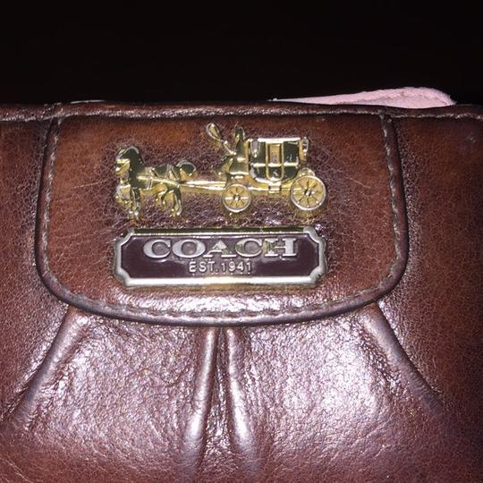 Coach Small Chocolate Coach Wallet