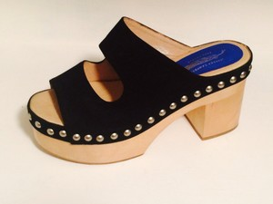 Jeffrey Campbell Studded Leather Black Platforms