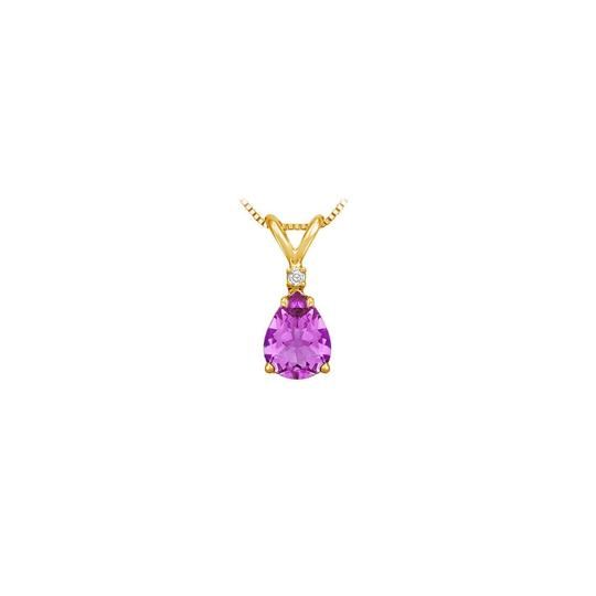 Preload https://img-static.tradesy.com/item/22406866/purple-yellow-february-birthstone-amethyst-teardrop-pendant-with-cubic-zirconia-necklace-0-0-540-540.jpg
