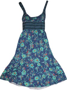 Free People short dress blue Floral Summer on Tradesy