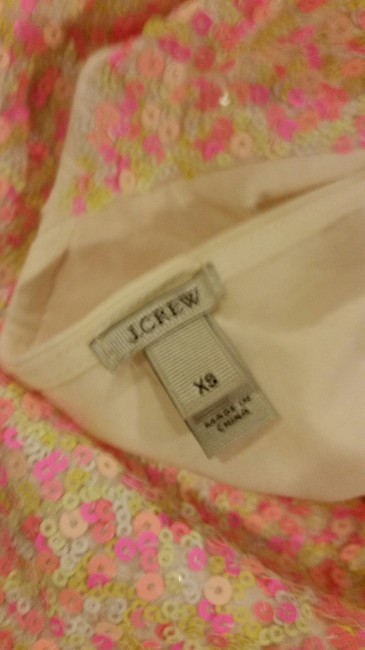 J.Crew Sequins Jersey Cotton Slim Fit T Shirt Multi Confetti Pinks Image 6