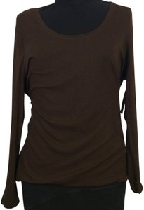 a.n.a. a new approach Top Chocolate Brown 3x Long Sleeve