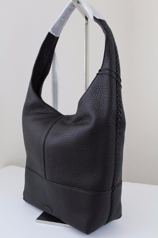 9c4cb2fed2 Rebecca Minkoff Unlined Slouchy with Whipstitch Black Leather Hobo ...