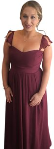 David's Bridal Wine Colored Formal Bridesmaid/Mob Dress Size 10 (M)