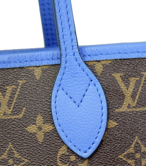 Louis Vuitton Neverfull Mm Neverfull Mm Ikat Neverfull Lv Ikat Tote in Brown Monogram Canvas & Blue Writing Image 11