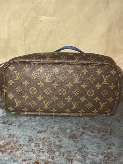 Louis Vuitton Neverfull Mm Neverfull Mm Ikat Neverfull Lv Ikat Tote in Brown Monogram Canvas & Blue Writing Image 3