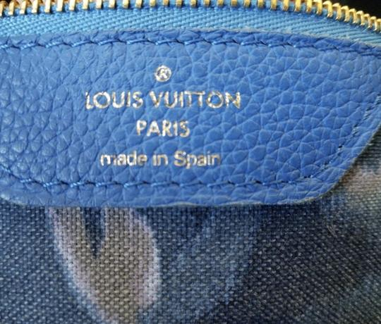Louis Vuitton Neverfull Mm Neverfull Mm Ikat Neverfull Lv Ikat Tote in Brown Monogram Canvas & Blue Writing Image 5