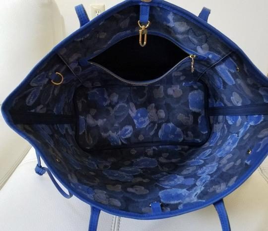 Louis Vuitton Neverfull Mm Neverfull Mm Ikat Neverfull Lv Ikat Tote in Brown Monogram Canvas & Blue Writing Image 8