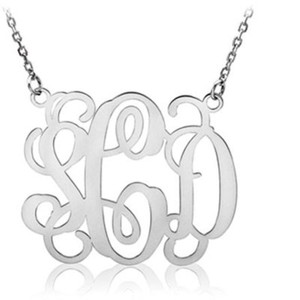 Apples of Gold Sterling Silver Monogram Necklace