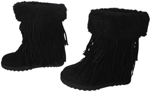 Madden Girl Winter New Without Box Fringe Wedge black Boots