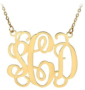 Apples of Gold Monogram Necklace, 14K Yellow Gold