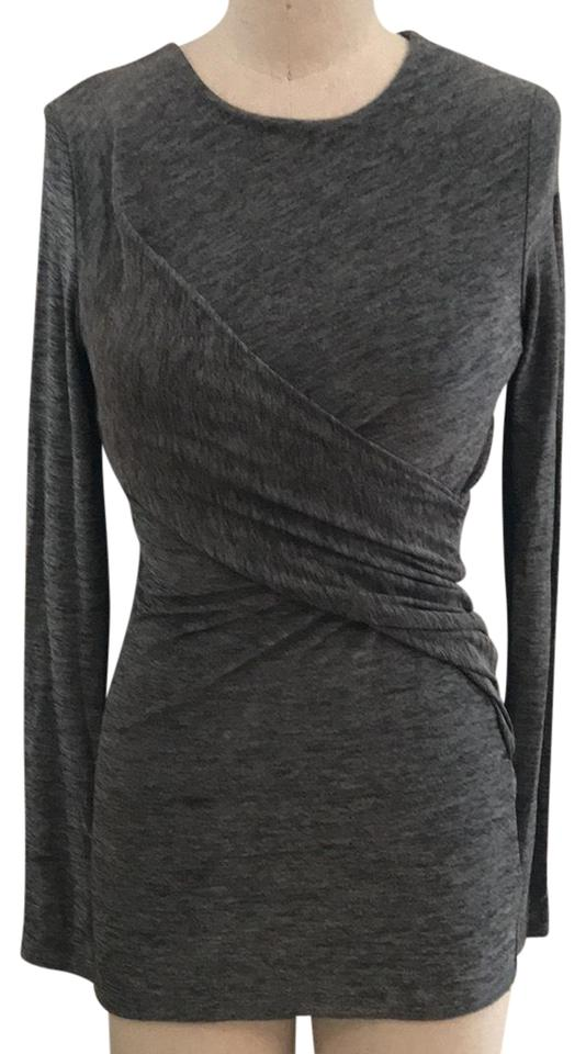 5741f20a6e5f1 T by Alexander Wang Long Sleeve Wrap Grey Top - Tradesy