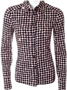Gucci Button Down Shirt Black and pink