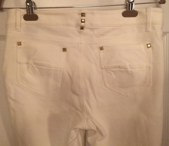 Other Studded Stretch Spandex Skinny Pants off white