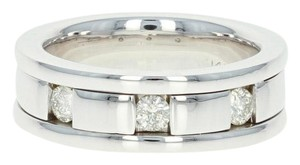 Diamond - 14k White Gold Ring Comfort Fit Round Cut Men's Wedding Band