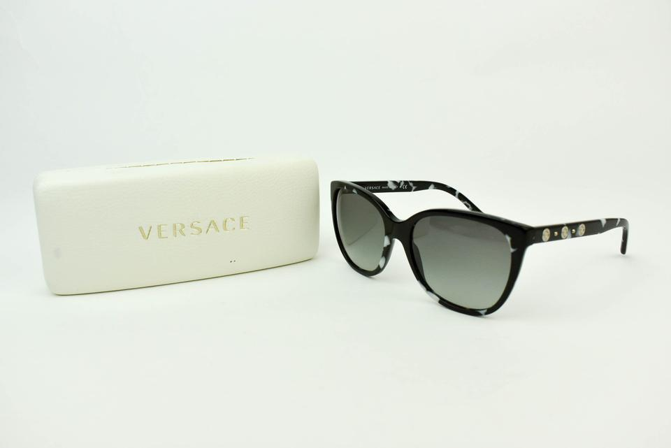 bc5ebceaa1 Versace Cat Eye - Black Marble & Silver
