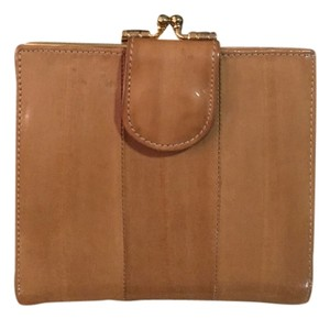 Unknown Eel Skin Tan Brown Snap Wallet