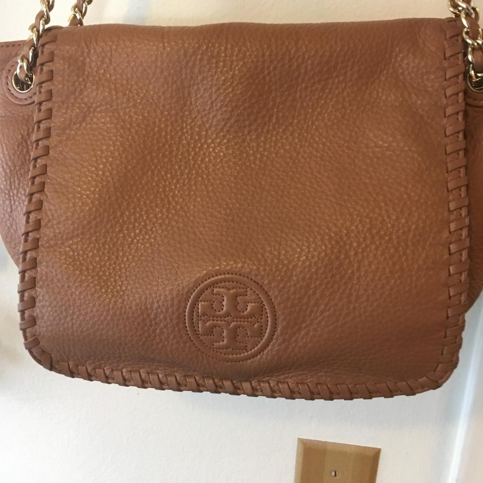 ad1d21a65a20 Tory Burch Marion Small Flap Strap Convertible Bark Leather Shoulder ...