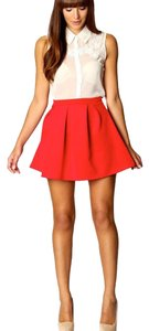 Parker Mini Skirt coral red