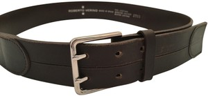 Roberto Verino ROBERTO VERINO Spain Genuine Leather Belt with Silver Tone Buckle