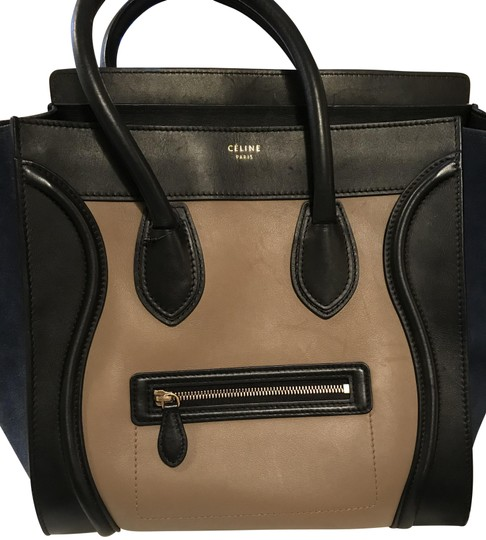 Preload https://img-static.tradesy.com/item/22409464/celine-luggage-tricolor-handbag-mini-black-taupe-leather-navy-blue-suede-and-tote-0-16-540-540.jpg