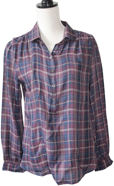 Preload https://img-static.tradesy.com/item/22409530/ann-taylor-loft-navy-purple-and-cream-plaid-pop-over-button-down-top-size-8-m-0-4-650-650.jpg
