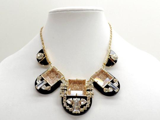 Kate Spade 12k Gold Plate with Faceted Black and Crystals Imperial Tile Necklace