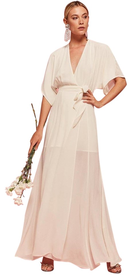 Reformation Ivory Lightweight Georgette Fabric with A Dry Handfeel ...