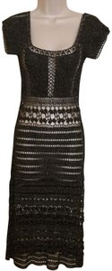 A.B.S. by Allen Schwartz Metallic Crochet Dress