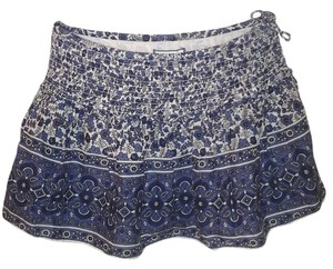 Aerie Micro-mini Mini Mini Skirt blue and white