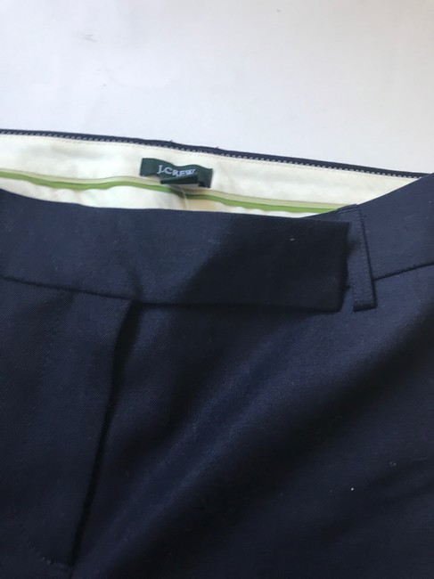 J.Crew Wool Suit Trouser Relaxed Pants Navy Blue