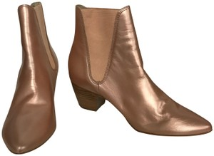 Amuse Society Leather Slip On Vintage Rose Gold Boots