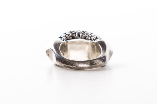 John Hardy Silver Two Tone Scroll Design Oval Face Ring