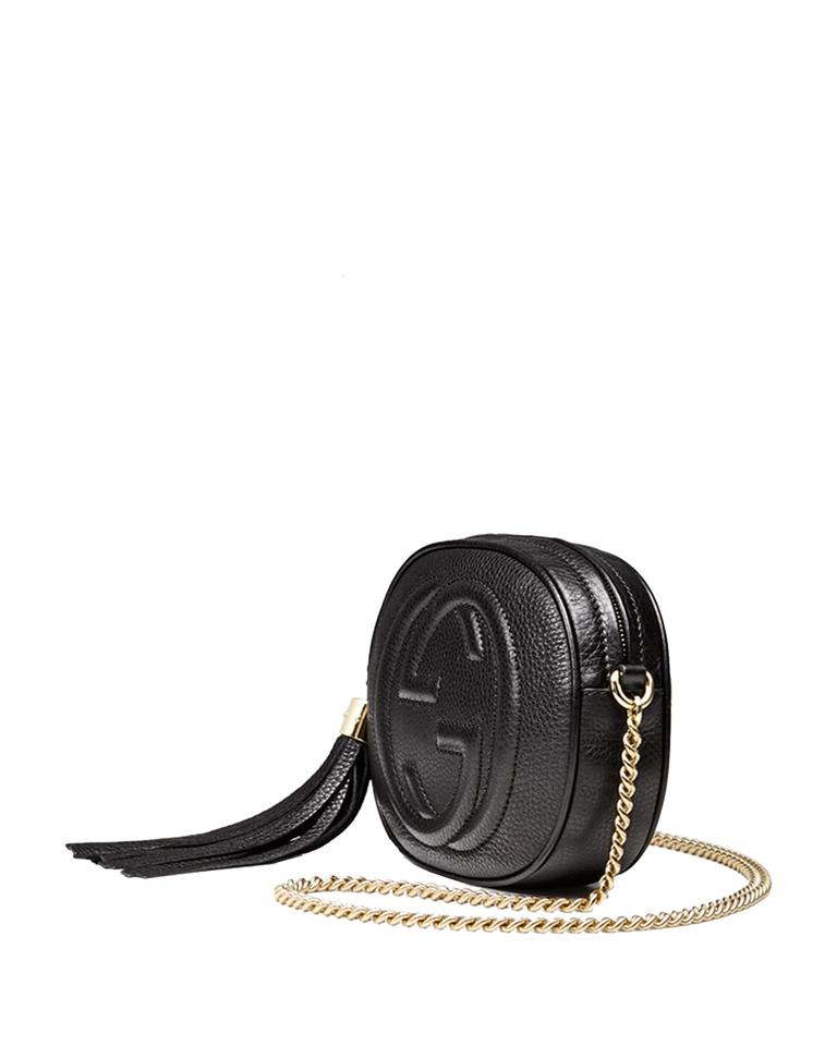 52fbce843b0b Gucci Soho Women's Mini Disco 353965 Black Leather Cross Body Bag ...