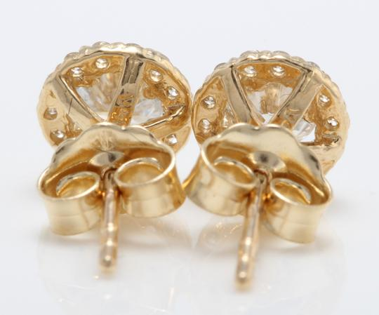 Other 1.00CT Natural Diamonds in 14K Solid Yellow Gold Stud Earrings