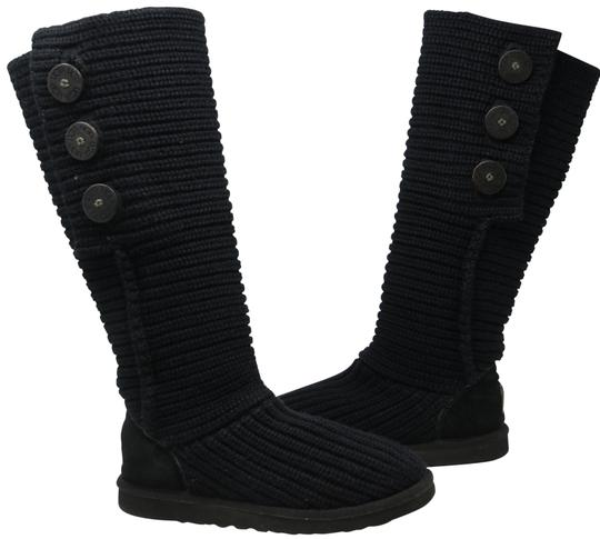 Preload https://img-static.tradesy.com/item/22410053/ugg-australia-black-signature-women-s-classic-cardy-tall-5819-bootsbooties-size-us-7-regular-m-b-0-4-540-540.jpg