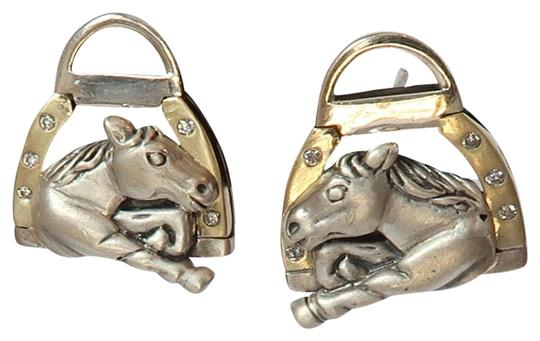 Preload https://img-static.tradesy.com/item/22410227/sterling-silver-18k-gold-by-sarah-jane-churchhill-downs-diamond-horse-head-earrings-0-1-540-540.jpg