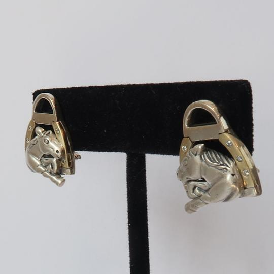 Saint Saint By Sarah Jane Churchhill Downs Diamond Horse Head Earrings