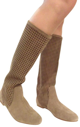 Preload https://img-static.tradesy.com/item/22410248/michael-kors-beige-perforated-suede-leather-flat-bootsbooties-size-us-9-regular-m-b-0-8-540-540.jpg