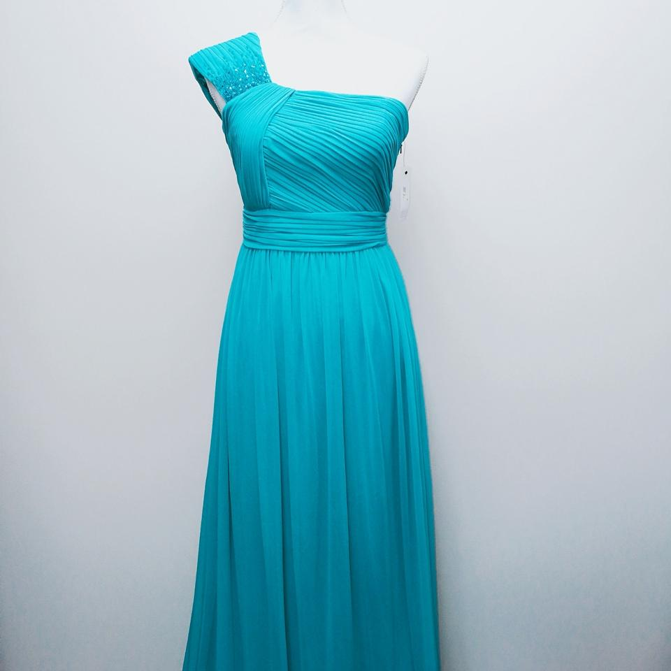 Mikael Aghal Blue Evening Gown Long Night Out Dress Size 10 (M ...