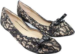 Freshica 10w Lace Black Floral Black/Tan Flats