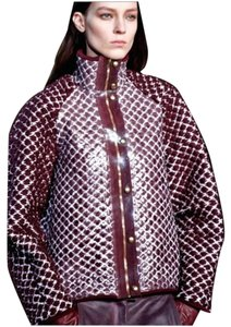 Alexander Wang Cream Runway Wool Avant Garde Red burgundy Jacket