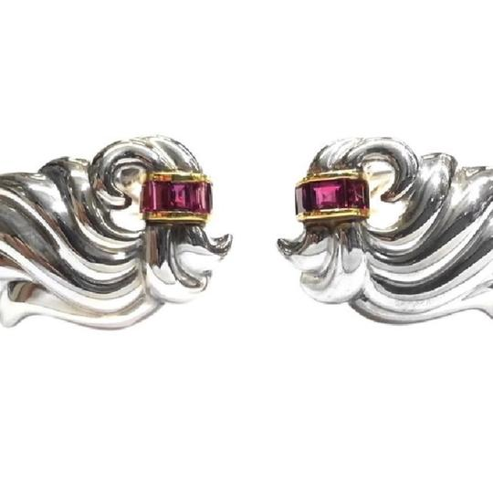 Tiffany & Co. GORGEOUS Tiffany & Co Vintage Sterling Silver & 18 Karat Yellow Gold Clip Earrings With Rubies