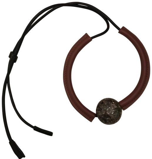 Preload https://img-static.tradesy.com/item/22410628/marni-brown-leather-pendant-necklace-0-6-540-540.jpg