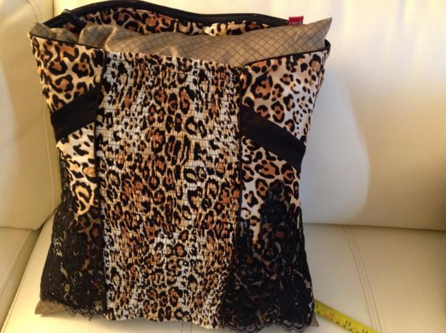 bebe Top Brown/black