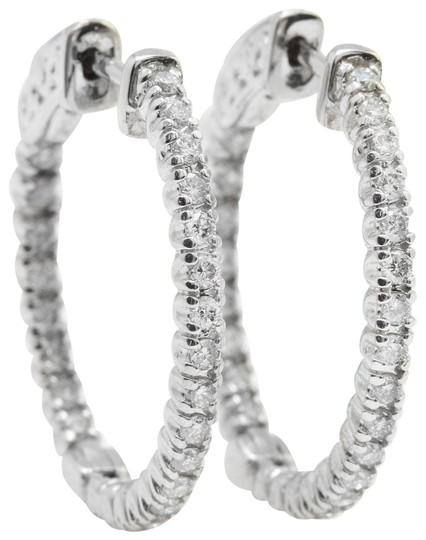 Other 1.18CTW Natural VS2/F-G Diamonds in 14K Solid White Gold Women Earring